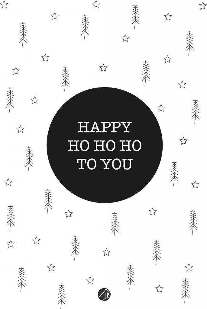 Printable happy ho ho ho at mi casa
